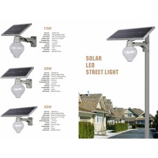 Уличный светодиодный фонарь на солнечных батареях AT-0330A15 15W