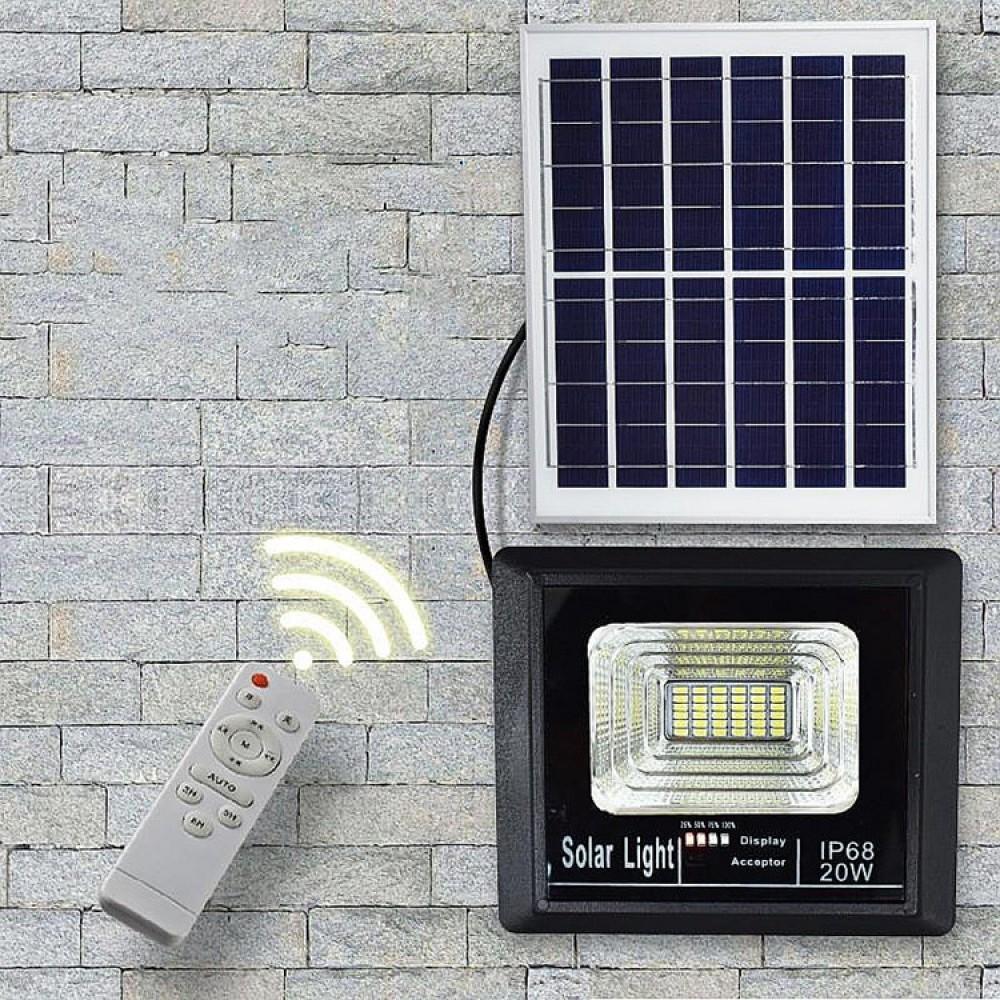 Светодиодный прожектор на солнечной батарее LXB-SFL-40W